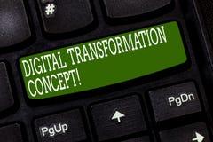 Begreppsmässig handhandstil som visar Digital omformningsbegrepp Gående paperless bruk för affärsfototext av digital teknologi fotografering för bildbyråer