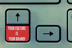 Begreppsmässig handhandstil som visar din kultur, är ditt märke E arkivbilder