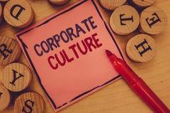 Begreppsmässig handhandstil som visar företags kultur Troar och idéer för affärsfototext att ett företag har delat arkivfoton
