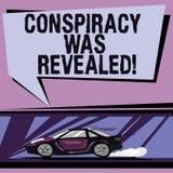 Begreppsmässig handhandstil som visar komplott, avslöjdes Affärsfotoet som ställer ut aktiviteten av i hemlighet planerat, var stock illustrationer