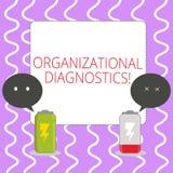 Begreppsmässig handhandstil som visar organisatorisk diagnostik Affärsfoto som ställer ut effektiva vägar för att bestämma mellan stock illustrationer