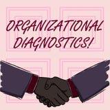 Begreppsmässig handhandstil som visar organisatorisk diagnostik Affärsfoto som ställer ut effektiva vägar för att bestämma mellan vektor illustrationer