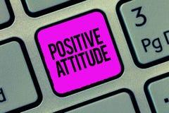 Begreppsmässig handhandstil som visar positiv inställning Affärsfoto som ställer ut vara optimistiskt i liv som ser för bra arkivfoto