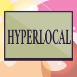 Begreppsmässig Hyperlocal handhandstiluppvisning Affärsfototext om att angå en liten gemenskap eller geografiskt vektor illustrationer