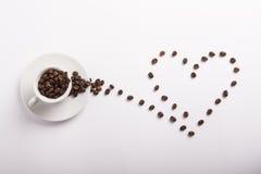 Begreppsmässig idé av kaffe Arkivfoto
