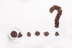 Begreppsmässig idé av kaffe Arkivfoton