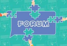 Begreppsmässig illustration för forum Royaltyfri Bild