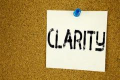 Begreppsmässig klarhet för visning för inspiration för överskrift för handhandstiltext Affärsidé för klarhetsmeddelandet som är s fotografering för bildbyråer