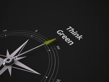 Begreppsmässig kompass 3D Arkivfoton