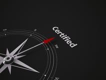 Begreppsmässig kompass 3D Royaltyfri Foto