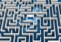 Begreppsmässig labyrintbild med blåttgolvet arkivbild