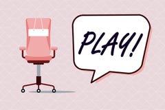 Begreppsmässig lek för handhandstilvisning Affärsfototext kopplar in i aktivitet för njutning och rekreation som har gyckel stock illustrationer