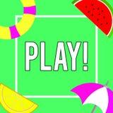 Begreppsmässig lek för handhandstilvisning Att ställa ut för affärsfoto kopplar in i aktivitet för njutning och rekreation som ha vektor illustrationer