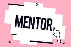 Begreppsmässig mentor för handhandstilvisning Att ställa ut för affärsfoto råder eller utbildar någon speciellt mer ung kollega stock illustrationer