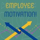 Begreppsmässig motivation för anställd för handhandstilvisning Affärsfotoet som ställer ut energi, att ett företag s är, arbetare vektor illustrationer