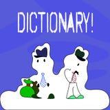 Begreppsmässig ordbok för handhandstilvisning Affärsfototext som lär en andra vocabs och synonymer från boken royaltyfri illustrationer