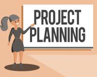 Begreppsmässig planläggning för projekt för handhandstilvisning Affärsfoto som ställer ut scheman liksom Gantt diagram för att pl royaltyfri illustrationer