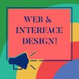 Begreppsmässig rengöringsduk för handhandstilvisning och manöverenhetsdesign Affärsfoto som ställer ut framkallning för Websitefo stock illustrationer