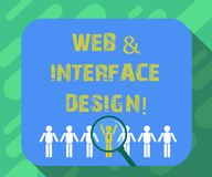Begreppsmässig rengöringsduk för handhandstilvisning och manöverenhetsdesign Framkallning för platser för formgivare för Website  royaltyfri illustrationer