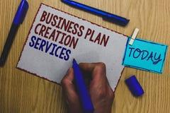 Begreppsmässig service för skapelse för plan för affär för handhandstilvisning Affärsfototext som betalar för att professionell s arkivbilder