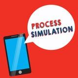 Begreppsmässig simulering för process för handhandstilvisning Affärsfoto som ställer ut den teknisk framställning fabricerade stu royaltyfri illustrationer