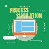 Begreppsmässig simulering för process för handhandstilvisning Fabricerade den tekniska framställningen för affärsfototext studien stock illustrationer