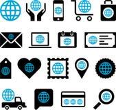 Begreppsmässiga världssymboler stock illustrationer