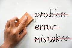 Begreppsmässigt av problemlösning Arkivfoton