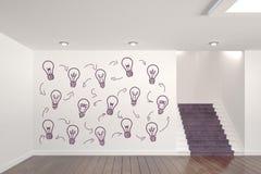 Begreppsmässigt diagram på väggen för rum 3D Royaltyfri Foto
