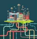 Begreppsmässigt ekologiskt för modern plan design Arkivbild