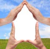 begreppsmässigt home symbol Arkivfoto