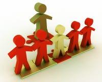 Begreppsmässigt ledarskapbegrepp Arkivbild
