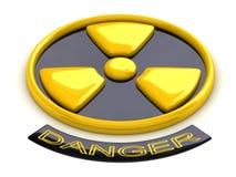 begreppsmässigt radioaktivt tecken Arkivbilder