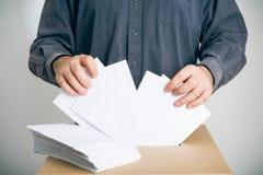 Begreppsmässigt skott av sluten omröstningriggning Arkivbilder