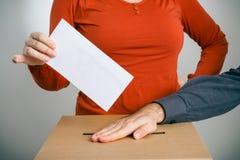 Begreppsmässigt skott av sluten omröstningriggning Royaltyfri Foto