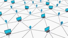 Begreppsmässigt socialt nätverk Arkivbilder