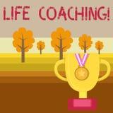 Begreppsm?ssig coachning f?r liv f?r handhandstilvisning E vektor illustrationer