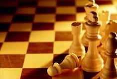 Begreppsmässig bild av schackstycken Royaltyfria Bilder