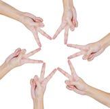 begreppsmässiga händer style teamwork Royaltyfri Bild