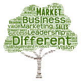 Begreppsmässigt moln för affärsledarskapord Royaltyfri Fotografi