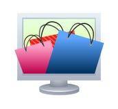 begreppsonline-shopping Arkivfoto