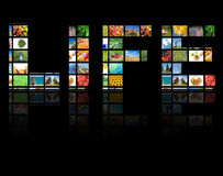 begreppsproduktiontelevision royaltyfri fotografi