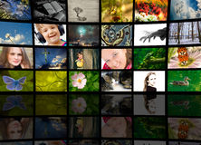 begreppsproduktiontelevision arkivfoton