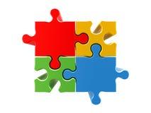 begreppspussel för 4 färger vektor illustrationer