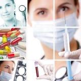 begreppssjukvårdläkarundersökning Royaltyfria Bilder