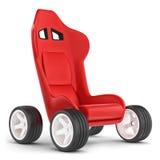Begreppsvagn. Seat på hjul. royaltyfri illustrationer