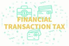 Begriffs- Geschäftsillustration mit dem Wörter Finanz-transa vektor abbildung