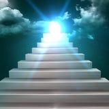 Begriffs-Treppe 3d, die zu einem Führer klettert Lizenzfreie Stockfotografie