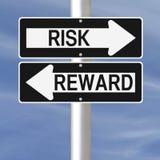 Risiko und Belohnung Stockbild