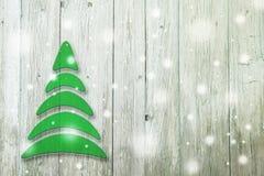 Begriffsbaum des neuen Jahres und des Weihnachten auf einem alten Hintergrund Lizenzfreie Stockfotografie